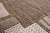 andiamo Louisville Webteppich Bettvorleger Teppichläufer Läuferset Brücke 1x67x180-2x67x140 Bettumrandung, Polypropylen, Bordüre braun/beige, 3er Set - 3