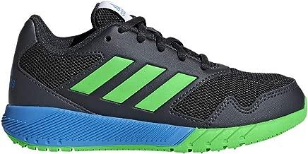 adidas Originals Unisex-Kids Altarun Running Shoe, Carbon/Vivid Green/Bright Blue, 11K M US Little Kid