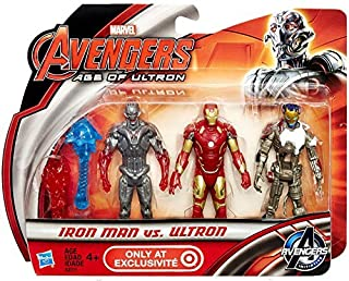 Marvel Avengers Age of Ultron Iron Man vs Ultron Exclusive 3 3/4 Action Figur...