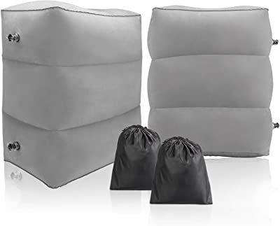 028a89605ef7 Amazon.com: BONAIR OUTFITTERS Inflatable Travel Foot Rest Pillow ...