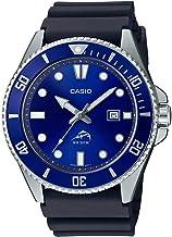 Casio Men's Diver Inspired Stainless Steel Quartz Resin Strap, Black, 25.6 Casual Watch (Model: MDV-106B-2AVCF)