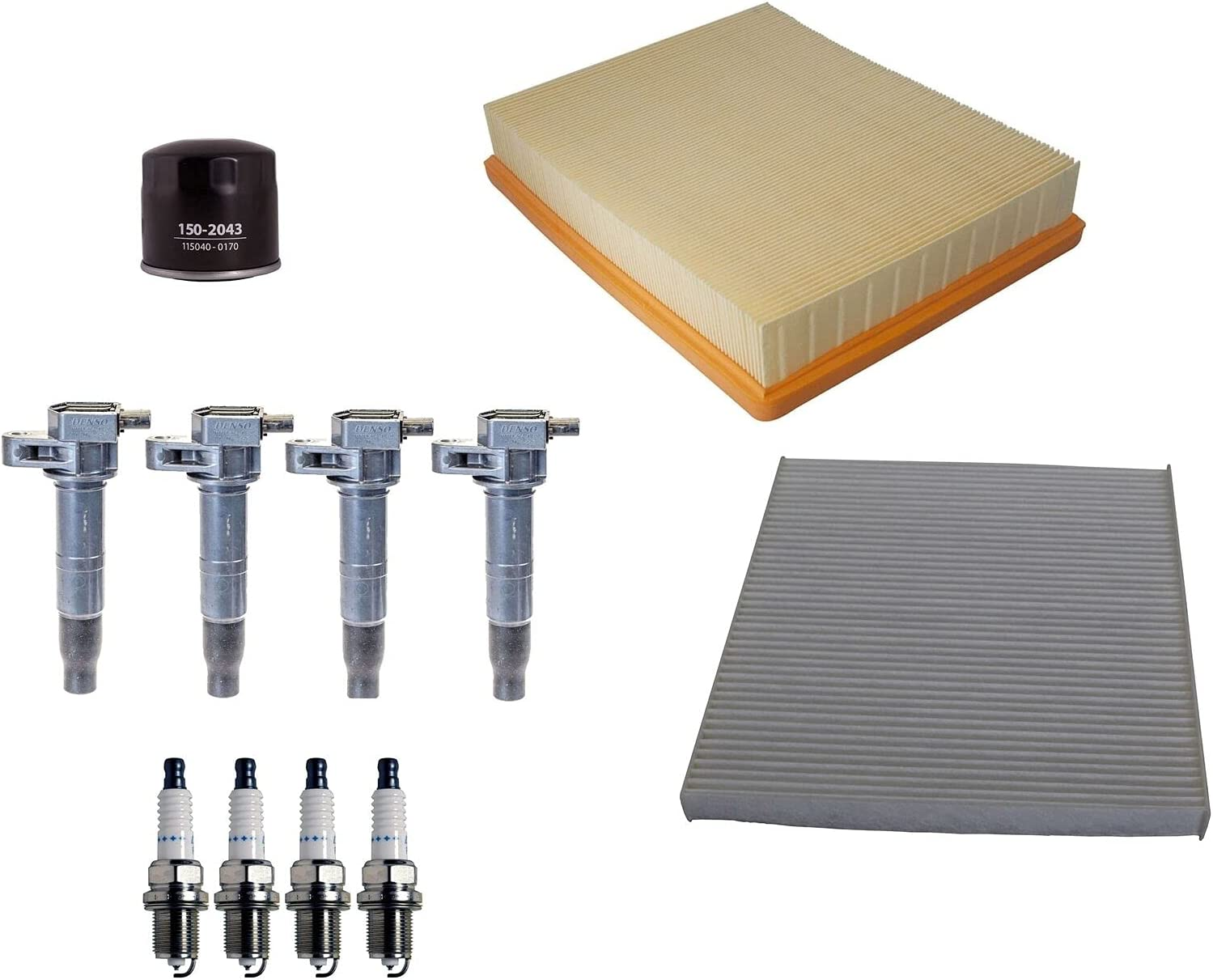 Filters 4 Ignition Coils  4 Spark Plugs Tune Up kit Compatible
