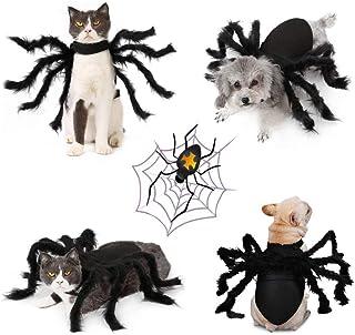 Idepet Pet Dog Halloween Halloween Dog Dress Cloak Bat Wings 8 Spider Purple Octopus Hat Devil Horns Hat Dogs Cats تزئین لباس تعطیلات لوازم جانبی مو برای توله سگ