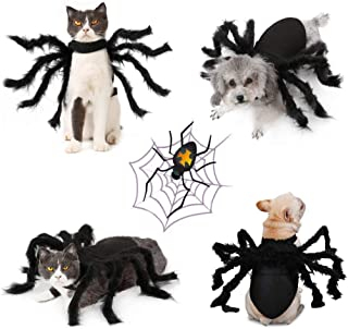 Idepet Pet Dog Halloween Christmas Costume Scarf Reindeer Antlers Hat Dog Cloak Bat Wings 8 Spider Purple Octopus Hat Devil Horns Hat Dogs Cats Holiday Costume Decoration Hair Accessories for Puppy