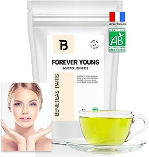 FOREVER YOUNG – Thé detox BIO – Cure jeunesse pour la peau – 30 J – menthe grenade – antioxydant / anti ride – tisane the ...