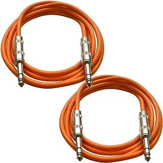 "SATRXL M2ORANGE6 2 Ft XLR Male To 1//4/"" TRS Patch Cables ORANGE"