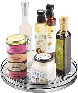 mDesign Especiero Giratorio para Cocina – Elegante Estante para Especias condimentos Ingredientes de Hornear o conservas...