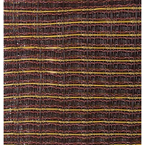 "Grill Cloth - Oxblood, Gold Stripe, 59"" Wide"