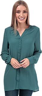 Vero Moda Womens Isabella Loose Fit Blouse in North Atlantic.