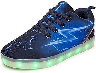EVLYN Light Up Shoes for Men Women Kids USB Charging Flashing Luminous Glowing Sneakers