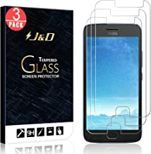 J&D Compatible for 3-Pack Moto G5 Plus Glass Screen Protector, [Tempered Glass] [Not Full Coverage] Ballistic Glass Screen Protector for Motorola Moto G5 Plus Screen Protector - [NOT for Moto G5]