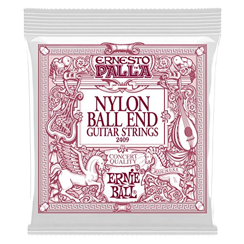Ernie Ball Ernesto Palla Nylon Black and Gold Classical Ball End Set