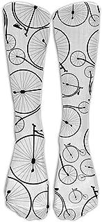 ヴィンテージ自転車の背景アスレチックチューブストッキングレディースメンズクラシックニーハイソックススポーツロングソックスワンサイズ