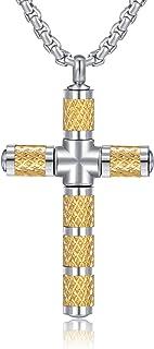 Cross Necklaces for Men Boy ,Gold Black Silver Tone,Cross...