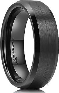 Basic 6mm 7mm 8mm 9mm 10mm Men Wedding Black Tungsten Ring Matte Finish Beveled Polished..