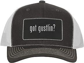One Legging it Around got Gustlin? - Leather Black Metallic Patch Engraved Trucker Hat