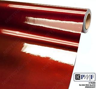 KPMF K75408 Gloss RED Black Iridescent 3in x 5in (Sample Size) Vinyl Car Wrap Film