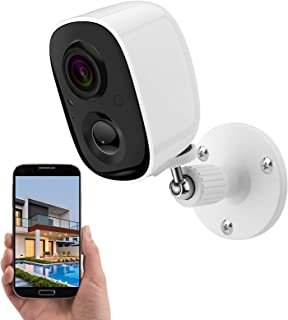 1080P Outdoor WiFi Wireless Security Camera with AI Auto PIR Detection Person/Baby/Pet, Rechargeable Smart Waterproof Indo...