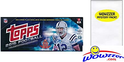 2015 Topps NFL Football HUGE 505 Card Complete HOBBY Factory Set with 5 EXCLUSIVE PARALLEL Cards #/75 and 110 ROOKIE Cards! Plus Includes Bonus Wowzzer Mystery Pack with AUTOGRAPH or MEMORABILIA!