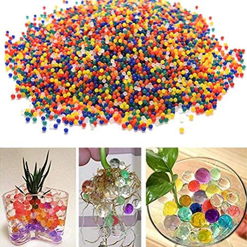 TOKERD Bolas de Gel de Agua para Plantas Perlas de Gel para Niños Perlas de Gel de Colores para decoración, Plantas, Flores, Mezclados cristalino Hidrogel Bolas de Gel para Decoración