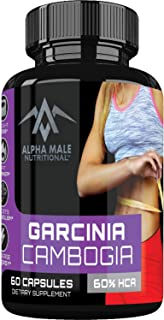 Alpha Male Pure Garcinia Cambogia Extract with Chromium - Fast Acting Appetite Suppressant, Extreme Carb Blocker & Fat Burner Supplement for Weight Loss & Faster Metabolism Best Diet Pills Available