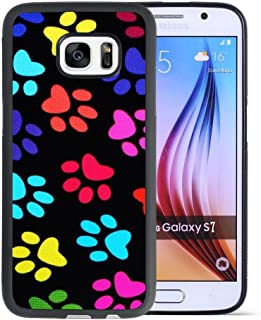 Samsung Galaxy S7 Case with Paw Pattern,Amusing Whimsical Design Bumper Case,Black Thin TPU and PC Protection Soft Cover Anti-Scratch &Fingerprint Shock Proof Case For Samsung Galaxy S7