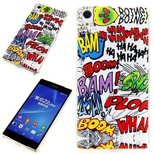Handy Lux® Schutz Hülle Etui Silikon TPU Hülle Cover Design Motiv für LG G3 s - Comic HAHA