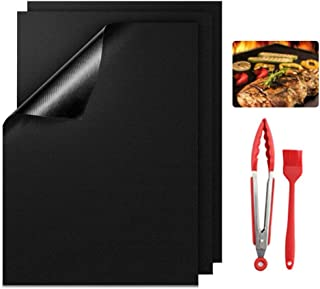 Tapis de Cuisson, 3 PcsTapis Barbecue Set,Réutilisable, Nettoyage Facile et Anti-adhérent, Peut être coupé , Réutilisable ...