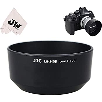 Haoge LH-W61F Metal Lens Hood Shade for Olympus M.ZUIKO Digital ED 75mm F1.8 Lens Replaces Olympus LH-61F Silver