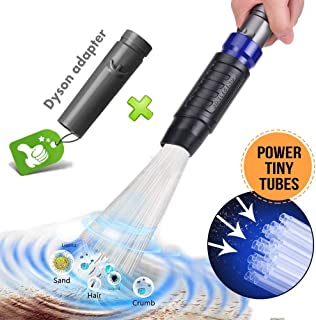Universal Dusty Brush Vacuum Attachment Duster Cleaning Tool Vacuum Duster Attachment with Universal Adapter Handy Flexible for Keyboards, Drawers, Cars, Corners, Vents, Furnitures