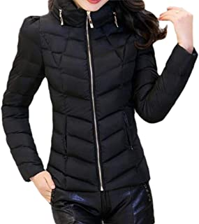 Women Fashion Down Jacket Hooded Long Sleeves Packable Puffer Down Coats Winter Outerwear