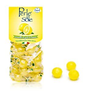 The original Perle di Sole Lemon Drops made with Essential Oils of Lemons from the Amalfi Coast (7.05 oz   200 g) - Single Pack