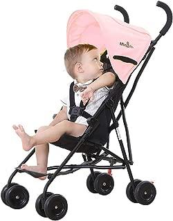Feemomベビーカー バギー 2.95KG ベビートレンド 極軽量 肩掛けベルト付き アルミ製 折り畳み簡単 日よけ 快適乗り心地 7ヶ月~4歳頃対象 出産準備 簡易 旅行 コンパクト 出産祝い お祝い プレゼント (ピンク)