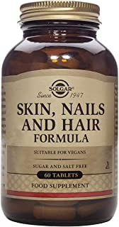 Solgar Skin, Nails & Hair, Advanced MSM Formula, 60 Tablets - Supports Collagen for Hair, Nail and Skin Health - Provides ...