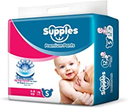 Supples Baby Pants Diapers, Small (4 - 8 kg), 78 Count