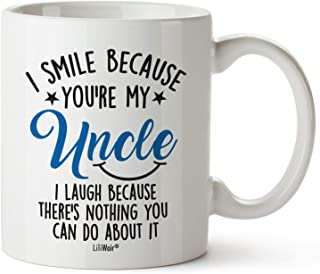 Fathers Day Gifts For Uncle Chrithmas Uncle Gift From Niece Nephew, Funny Birthday Gifts For Uncles, Uncle Best Ever Coffee Mugs Cups, For Great Uncle's Novelty Cup Ideas, Uncle Smile Laugh Gag Mug