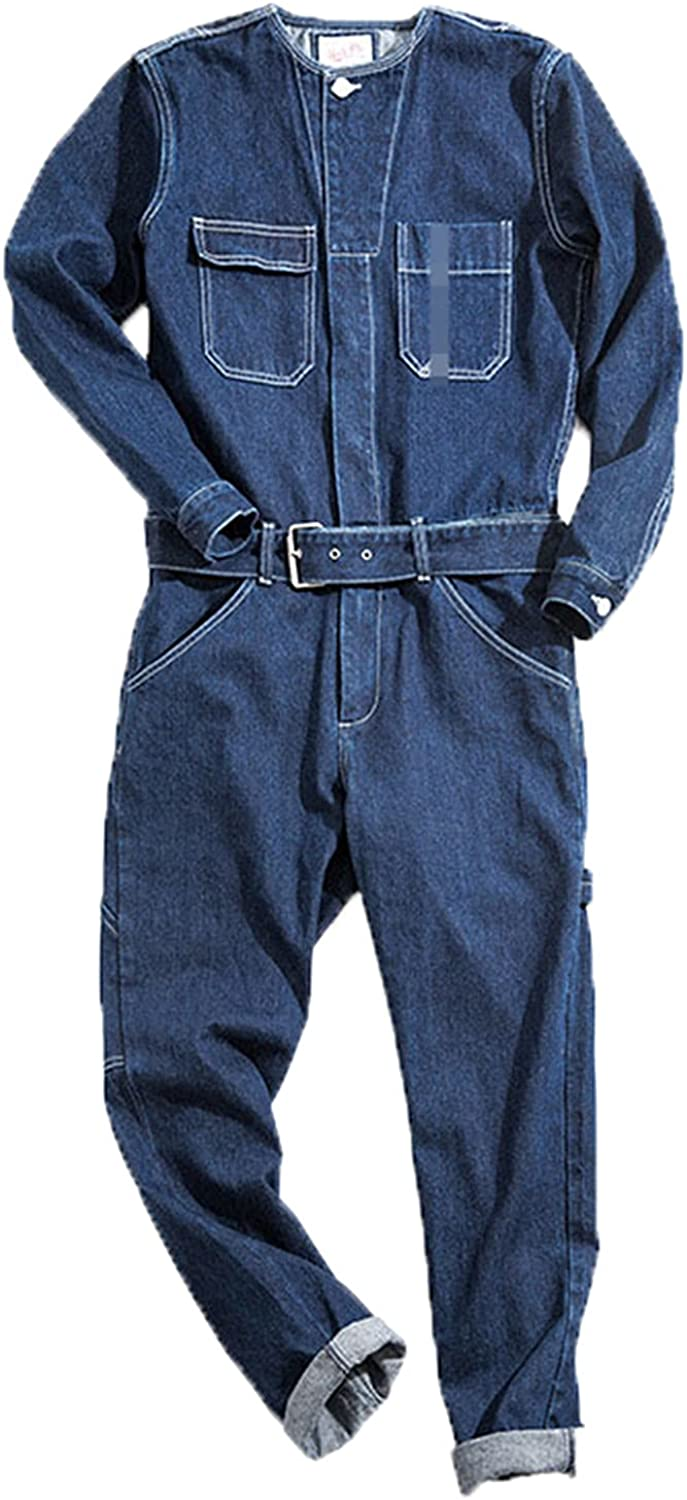 Tealun OFFicial site Man Jeans Jumpsuits Bib Overalls New color Loose Straight Streetwea