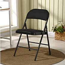 RPMDM Chair Folding Chair Steel Frame Upholstered High-Grade Fabric Seat 480 Pounds Folding Chair (Color : 4)