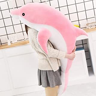 WULINCUN Giant cute dolphin plush toys lovely soft plush stuffed animal toys children's toys marine bedroom decoration emb...