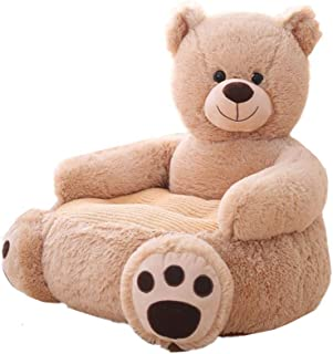 MJTP Baby Sofa Bear Support Seat Learning Sitting for Soft Chair Cushion Babys Feeding Pillows Safe Animal Plush Gift