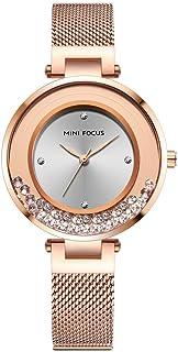 Andoer MF0254L Woman Quartz Watch Decorative Diamonds Outdoor Waterproof Female Wristwatch