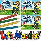 6X Zauberblöckchen * Fussball * in DIN A7 als Mitgebsel für Kindergeburtstag von Lutz Mauder // Fussballer Fritz Flanke Party Zauberblock