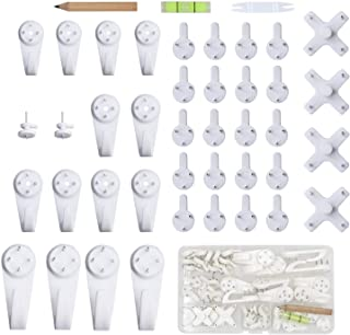 EuTengHao 43Pcs Invisible Nail Screws Wall Hooks No Trace Picture Hangers Traceless Photo Hook Hardwall Drywall Picture Ho...