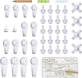 Eutenghao 43pcs Invisible Photo cintres Supports aucune trace Crochets muraux Fond de photo Crochet Hardwall cloison sèche...