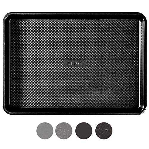 BINO Bakeware Nonstick Cookie Sheet Baking Tray, 9 x 13 Inch - Black | Premium Quality Textured Baking Sheet with Even-Flow Technology | Dishwasher Safe | Non-Toxic