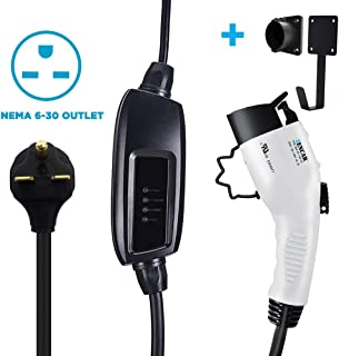 Zencar Level 2 EV Charger(240V, 16A, 25ft), Portable EVSE Home Electric Vehicle Charging Station Compatible with Chevy Volt, Nissan Leaf, Fiat, Ford Fusion(NEMA 6-30 Plug)
