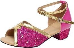 IMJONO Chaussures Danse Filles, Sandale Enfants Bé