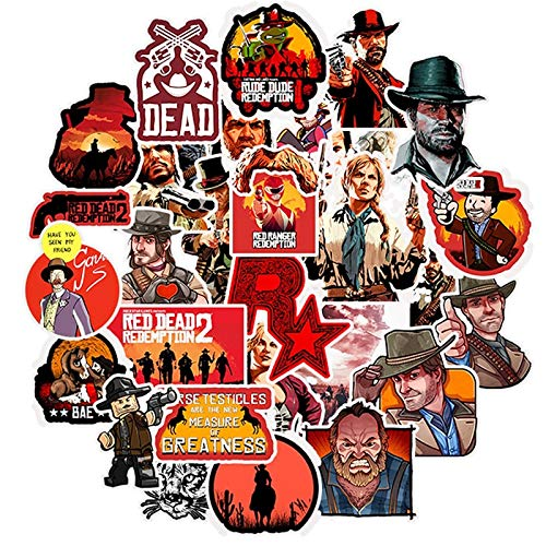 NANANA Classic Game Red Dead Redemption 2 Stickers For Refrigerator Car Helmet DIY Gift Box Bicycle Guitar Notebook Skate 100 Pcs