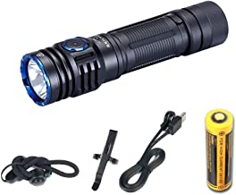 M300 New Handheld Flashlight Max 2000 Lumens CREE XHP35 LED Flashlight with Magnetic & 18650 Battery Customized UI Recharg...
