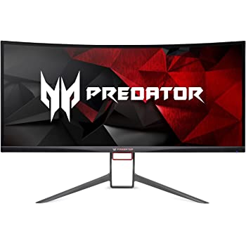 "Acer Predator Gaming X34 Pbmiphzx Curved 34"" UltraWide QHD Monitor with NVIDIA G-SYNC Technology (Display Port & HDMI Port),Black"